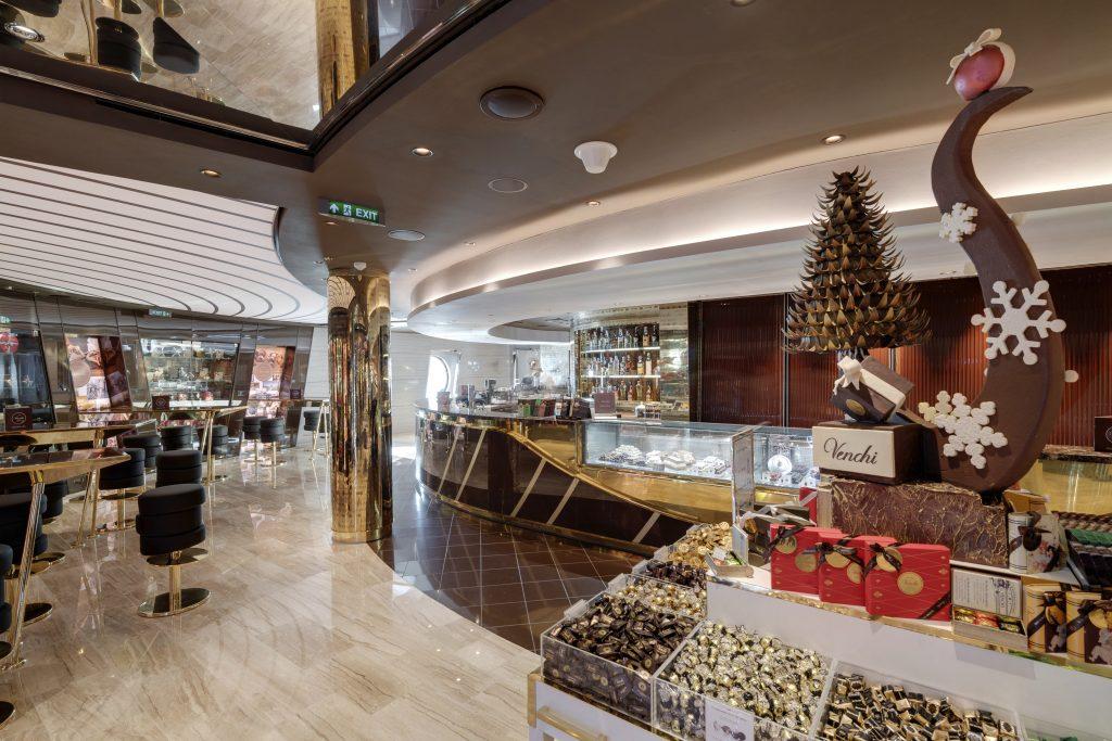 msc crociere, msc seaside, nave da crociera, cruise ship, venchi cioccolato,