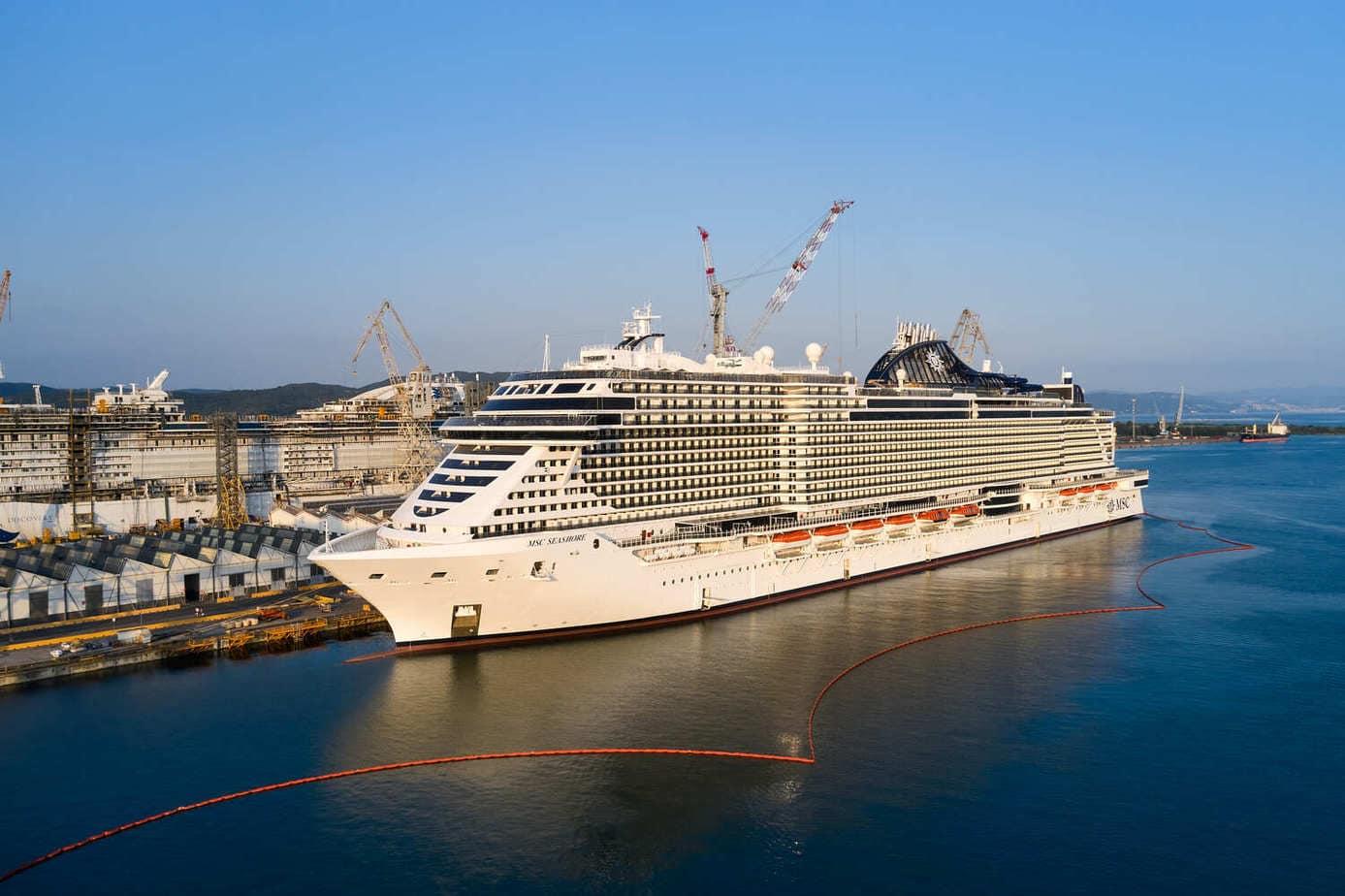 msc crociere msc seashore, nave da crociera più grande mai costruita in Italia.